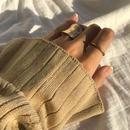 matte disk ring -gold-