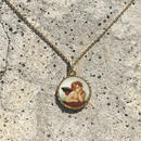 115 angel round medal necklace