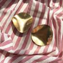 145 big oval brass plate earrings