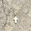 135 Pinctada maxima cross necklace