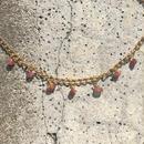 117 pink tourmaline chain choker