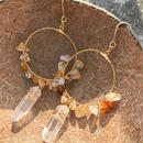 104 citrine crystal hoops