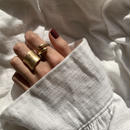matte volume twist ring -gold-