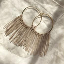 142 leather fringe hoops
