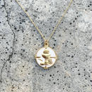 139 JHS white medal necklace