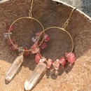 103 cherry crystal hoops