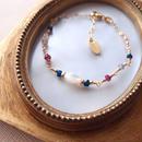 tourmaline×pyrite bracelet BR160103