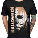 ハロウィーン マイケルマイヤーズ (Halloween Michael Myers)ソリッドホラー映画ハロウィンマスクTシャツ 1