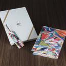 Michiyo Yaegashi「ワープロ」/ 本革製ブックカバー&しおりセット