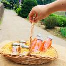 父の日ギフトBOX にんじんジュース3本&おつまみピクルス3種 柳かご入り(送料込)