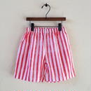 muu muu / STRIPE S/T PANTS  red