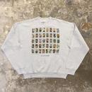90's FRUIT OF THE LOOM Wildflowers Stamp Sweatshirt