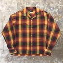 ~70's MACRAE PREST Open Collar Shirt