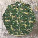 80's BUSHLAN Camouflage Work Shirt