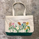 80's Flower Printed Tote Bag