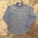 70's BIG MAC Hand Embroidered Chambray Shirt