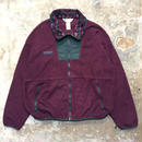 90's Columbia Fleece Jacket PURPLE×GREEN