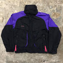 90's Columbia Nylon Jacket BLACK×PURPLE