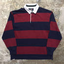 LANDS' END Rugby Jersey  BURGUNDY × NAVY