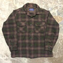 50's PENDLETON Wool Board Shirt BROWN×GREEN