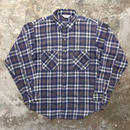 80's FIVE BROTHER Printed Light Flannel Shirt