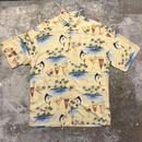 CAMPIA MODA Rayon Aloha Shirt YELLOW