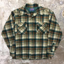 70's PENDLETON Wool Board Shirt GREEN×BROWN