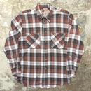 90's BIG MAC Light Flannel Shirt RED×BLACK×WHITE