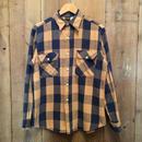 70's BIG YANK Heavy Flannel Shirt NAVY×BEIGE