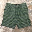 90's~ BANANA REPUBLIC Two Tuck Plaid Cotton Shorts W: 35