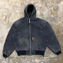 80's Carhartt Quilted Nylon Lined Active Jacket NAVY