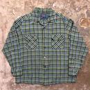 60's PENDLETON Wool Board Shirt BLUE×GREEN×NAVY