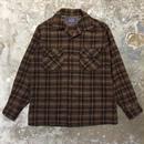 50's PENDLETON Wool Board Shirt BROWN