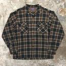 50's PENDLETON Wool Board Shirt BROWN×BLUE