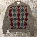 70's~ McGeorge Argyle Wool Sweater