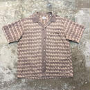 ~60's Horse Patterned Open Collar Shirt
