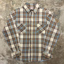 70's BIG MAC Heavy Flannel Shirt WHITE×BROWN