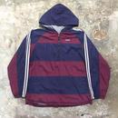 90's adidas Hooded Nylon Jacket NAVY×BURGUNDY