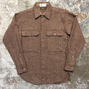IRWIN Tweed Wool Shirt BROWN