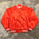 80's Nylon Award Jacket ORANGE