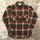 70's Woolrich Wool Shirt BROWN×GREEN