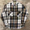 80's ST JOHN'S BAY Heavy Flannel Shirt BLACK×WHITE