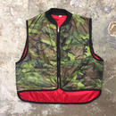 70's Camouflage Quilted Nylon Vest