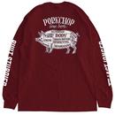 PORKCHOP - PORK BACK L/S TEE (マルーン)