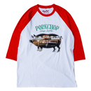 PORKCHOP - SHOP PHOTO RAGLAN TEE/RED