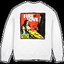 Jesse Jo Stark - fire of love スウェット (ホワイト)