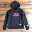 "BLUE SAKURA - CLASSIC VINTAGE HOODIE ""LOGO B""【ブラック】 / BS-SWP02-BK"