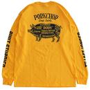 PORKCHOP - PORK BACK L/S TEE (イエロー)