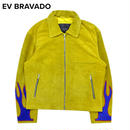 EV BRAVADO - スウェードジャケット REBIRTH ETERNAL FLAME TRUCKER / YELLOW