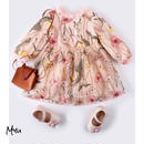 受注発注【73〜100cm】Flower embroidery dress